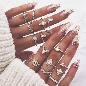 Jewelry - GYPSY ♡ MIDI Rings Set